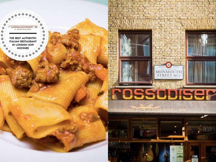 "Here we go again! Rossodisera has been nominated for ""The Best Authentic Italian Restaurant in London 2019"""