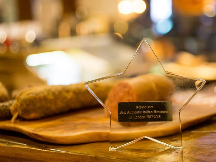 Rossodisera has been awarded Best Authentic Italian Restaurant in London